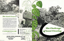 Caterpillar Land Clearing Booklet 1950s