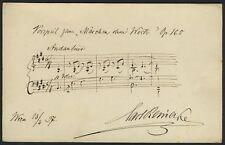 "Carl REINECKE (Composer): ""Märchen ohne Worte"" - Autograph Musical Quotation"
