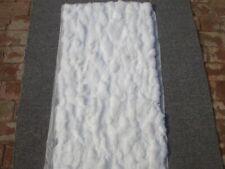 Luxury Rabbit Fur Throw 100% Real Rex Fur Warm Soft Bedspread / Blanket 22X42''