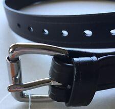 Men's Black Biothane Belt Casual Work Dress Belt_USA_Amish Hand Made Heavy duty