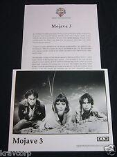 MOJAVE 3 'ASK ME TOMORROW' 1995 PRESS KIT—PHOTO