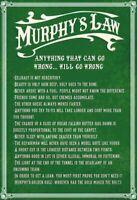 Murphys Murphy's Law Gesetz Blechschild Schild gewölbt Metal Tin Sign 20 x 30 cm