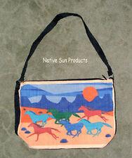"Purse Handbag Sunset Gallup Horse Design Cotton Canvas 13x19"" Zips close"