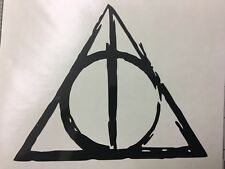 HARRY POTTER DISTRESSED DEATHLY HALLOWS Vinyl Decal For Cars Windows Robes