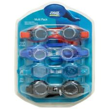 Zoggs 3 Junior Kids & 1 Adult Family Pack Swimming Goggles Assorted Colour