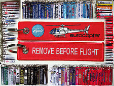 Keyring Airbus Eurocopter AS-350 Ecureuil Remove Before Flight keychain