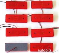 LED 8 pcs 24V RED REAR TAIL SIDE MARKER INDICATOR LAMP LIGHT TRUCK LORRY TRAILER
