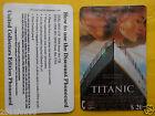 phone cards $20 leonardo di caprio titanic schede telefoniche 1997 telefonkarten