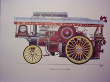 Steam Traction engine Fowler Showmans Supreme print by Geoffery Wheeler