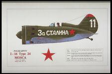 419099 Polikarpov I 16 Type 24 Mosca A4 Photo Print