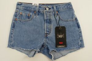 Levi's 501 Damen Jeans Hose Shorts kurze Hot Pants High Rise Blau Gr. 25 #P10