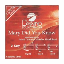 Mary Did You Know [Accompaniment/Performance Track] Free Shipping