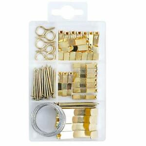 Picture Hanging Kit Includes Hooks, Nails,and Picture Hanging Wire 55pcs