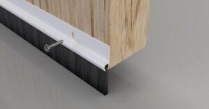 Garage Front Back Bottom Door Brush Strip Draught Excluder Seal Pvc White Brown