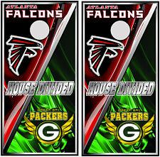 Atlanta Falcons & Greenbay Packers 0713 cornhole board vinyl wraps stickers