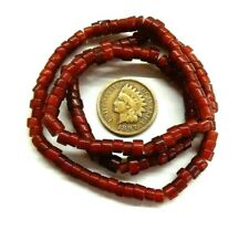 Whiteheart Cranberry Red Trade Beads  White Heart 677 3 Antique style Hudson Bay