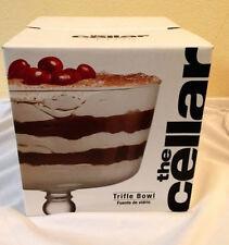 "Macy's The Cellar Clear Glass Pedestal Trifle Bowl 9"" x 8.9"" Diameter"