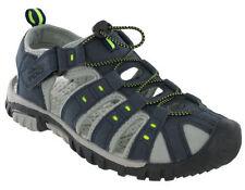Scarpe da uomo sandali con cinturino blu con velcro
