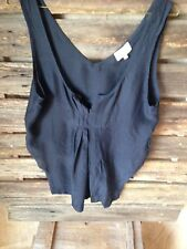SOCIALIGHT Womens Size 10 Black  Gathered Bodice Top