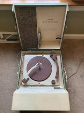New listing Vintage 1960s Silvertone Stereo Portable Record Player Model 262