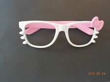 Kitty bow glasses without lenses white pink cosplay kawaii festival