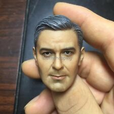 JXtoys-05 1/6 George Clooney Head Sculpt Carving For 12'' Figure Body Hot Toys