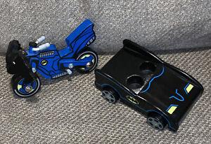 2015 Pottery Barn Kids DC Batman Batcycle & Batmobile Discontinued HTF