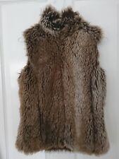 Warehouse brown faux fur gilet size UK 6-8
