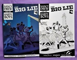 Nancy Drew and Hardy Boys The Big Lie #4 Dave Bullock Variants (Dynamite, 2017)!