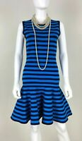 Michael Kors New 6 8 US 42 44 IT M Blue Stretch Knit  Dress Bodycon Runway Auth