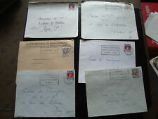 FRANCE - 6 enveloppes 1966/1967 (cy60) french