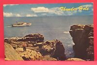 Old Postcard ME Bar Harbor 1964 Sightseeing Cruise Thunder Hole Acadia Park A10