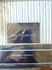"New Nautica Kids ""Brody"" Valance Blue White Yellow Striped 100% Cotton WXI-JGSU"