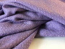 NEW Designer Lilac Wool Boucle Fabric 61''155cm Seen On Designer Catwalk Images