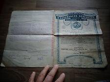 Conditions Générales Compagnies d'Assurances Générales Accidents Paris 1919