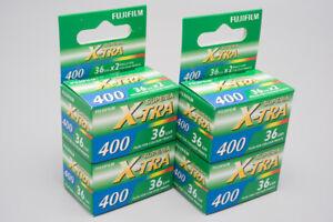 4x Rolls Fujifilm Fujicolor Superia X-TRA 400 Colour Negative Film 35mm 135/36