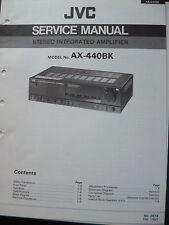 ORIGINALI service manual JVC stereo integrated amplifier ax-440bk