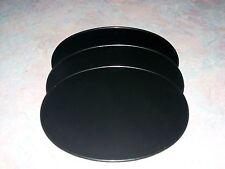 3 BLACK  OVAL NUMBER PLATES 9 x 11 MOTOCROSS PLASTIC VINTAGE KAWASAKI SUZUKI KX