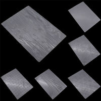 6 Pc Tyre Texture Sheet Set Mat Cake Mould Mold Cookie Fondant Baking Tool Clear
