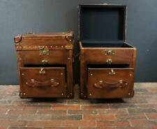 Bespoke Handmade English Campaign Chests Nightstands
