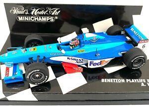 1:43 scale Minichamps Model Benetton B198 F1 Car - A Wurz 1998 Diecast Model Car