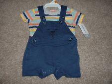 Carter's Newborn Boy Dog Striped Shortall Set Outfit Size NB Baby Summer NWT NEW