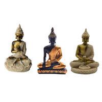3Pcs Resin Budha Miniature Meditation Statue Sakyamuni Religious Figurine