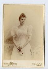 Vintage Cabinet Card Maidee Wentworth Milhouse 1891 Gilbert Photo Philadelphia