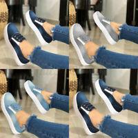 Women Denim Slip On Loafers Pumps Ladies Summer Casual Shoes Flat Sneakers