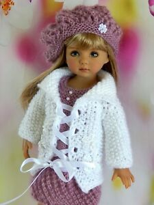 Outfit doll Little Darling Dianna Effner Clothes dress,cardigan and beret