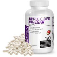 Bronson Apple Cider Vinegar 500 mg WEIGHT LOSS FAT BURNER, 180 Capsules