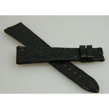 bracelet autruche noir 20mm