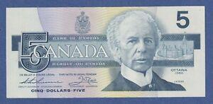 "Canada Five Dollar $5 (1986) - BC-56b - AU Banknote ""FNP9140105"" <<CN0028>>"