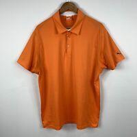 Puma Mens Polo Shirt Size Large Orange Short Sleeve Good Condition